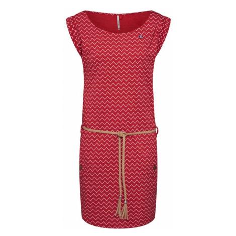 Ragwear Letnia sukienka 'Tag Zig Zag' pastelowy róż / ognisto-czerwony
