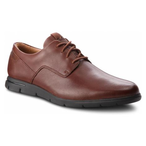 Półbuty CLARKS - Vennor Walk 261364217 Mahogany Leather