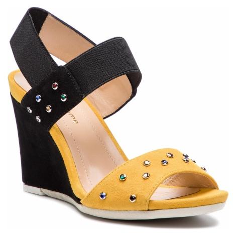 Sandały SOLO FEMME - 53113-42-G22/020-07-00 Czarny Żółty