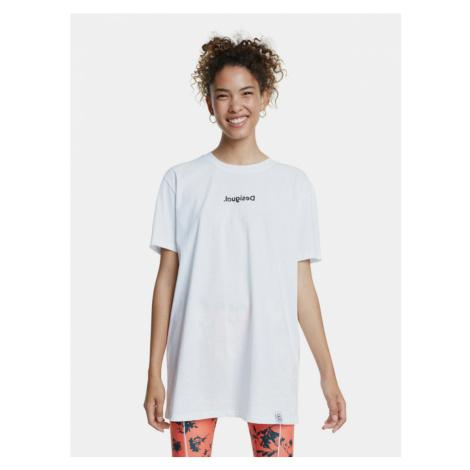 Biała koszulka oversize Desigual