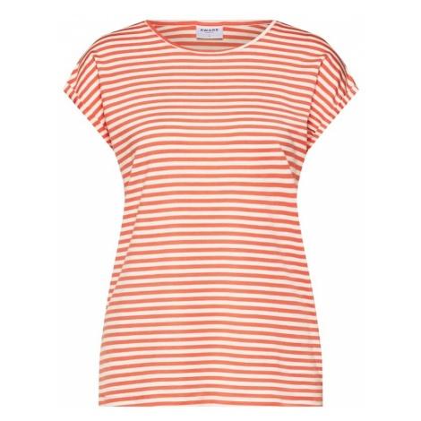 VERO MODA Koszulka kremowy / pomarańczowy