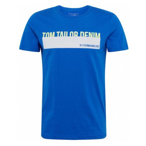 TOM TAILOR DENIM Koszulka królewski błękit