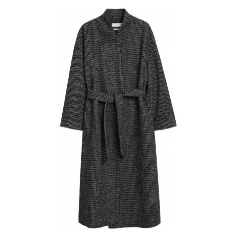 MANGO Płaszcz przejściowy 'Abrigo Madame' ciemny niebieski / biały