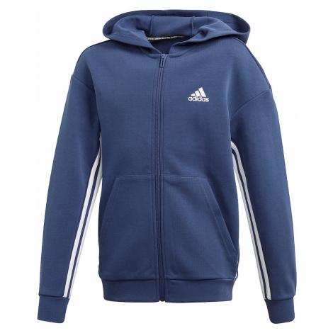 ADIDAS PERFORMANCE Sportowa bluza rozpinana biały / królewski błękit