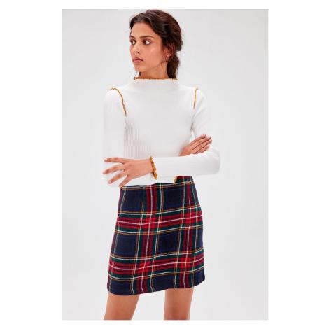Trendyol Green Plaid Skirt