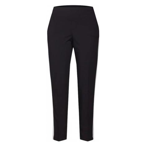OPUS Spodnie 'Edira solid stripe ROS' czarny / biały