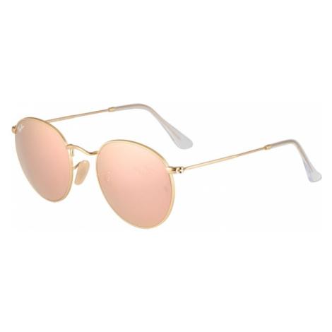 Ray-Ban Okulary przeciwsłoneczne 'Round metal' złoty / różowy pudrowy