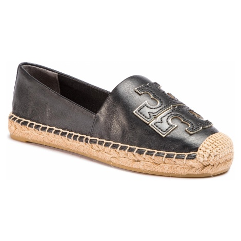 Espadryle TORY BURCH - Ines Espadrille 52035 Perfect Black/Perfect Black/Silver 013