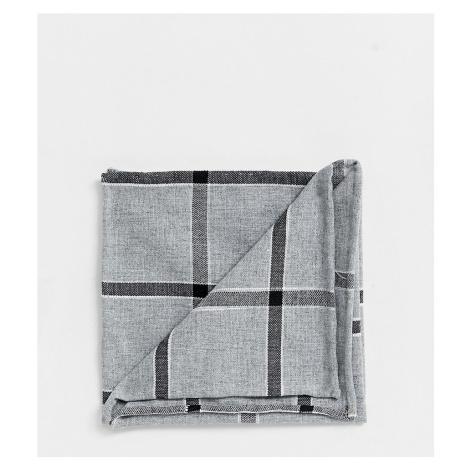 Noak pocket square in grey check