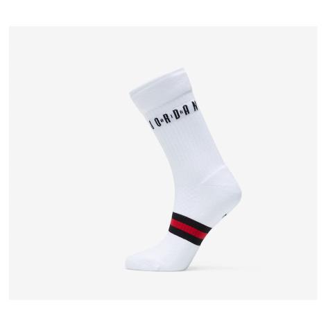 Jordan Legacy 2 Pair Crew Socks White/ Gym Red/ Black