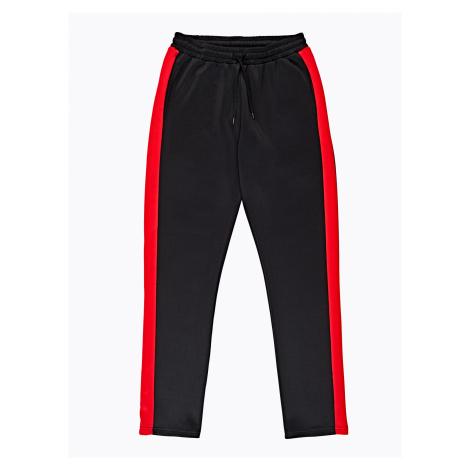 GATE Spodnie straight slim z prążkiem po bokach