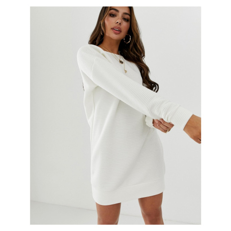 ASOS DESIGN rib sweat dress with low back