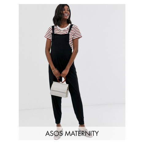 ASOS DESIGN Maternity dungaree jumpsuit in jersey