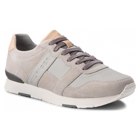 Sneakersy TOMMY HILFIGER - City Casual Material Mix Runner FM0FM01624 Diamond Grey 001