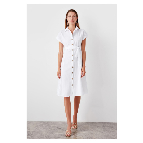 Trendyol White Tie Detailed dress