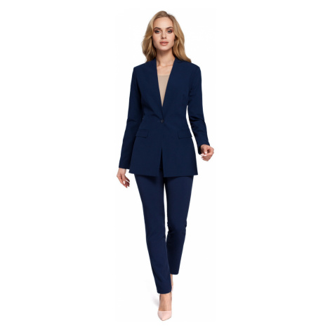 Made Of Emotion Woman's Jacket M304 Navy Blue
