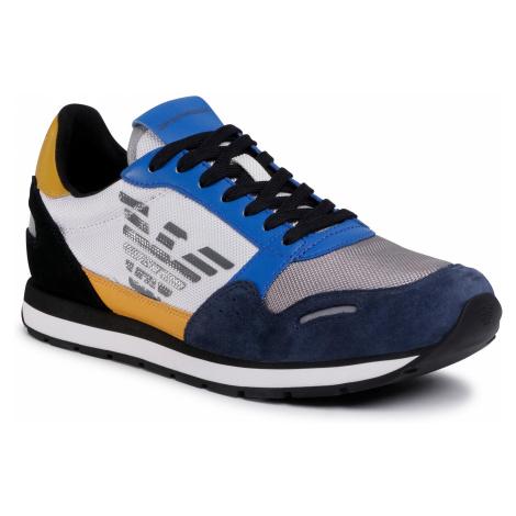 Sneakersy EMPORIO ARMANI - X4X215 XM561 N235 Night/Cobalt/L.Grey