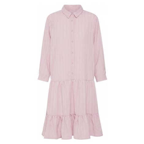 ICHI Sukienka 'STRIPY DR2' różowy pudrowy