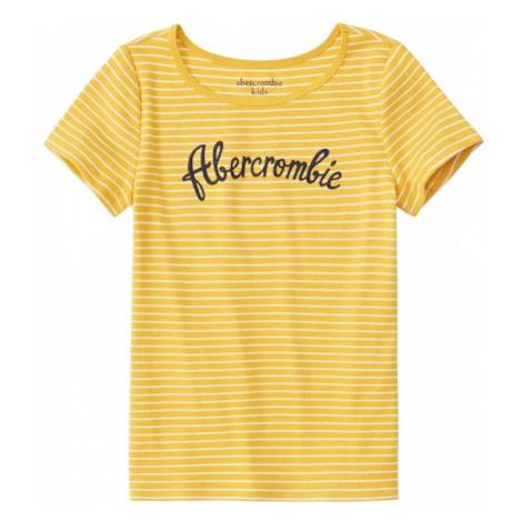 Abercrombie & Fitch Koszulka niebieska noc / żółty / biały