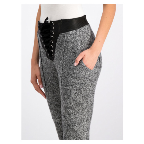 The Kooples Spodnie materiałowe FJOG18019S Szary Regular Fit