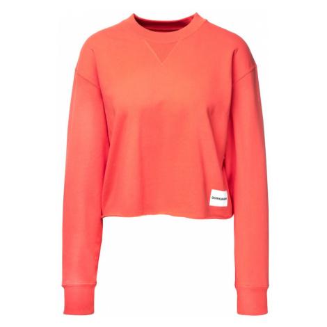 Calvin Klein Jeans Bluza J20J211599 Pomarańczowy Regular Fit