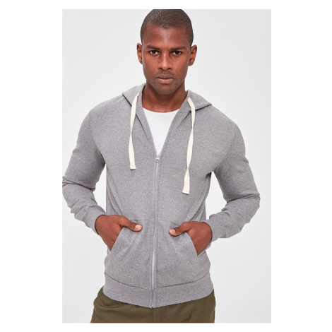 Bluza z kapturem męska Trendyol Zipper detailed