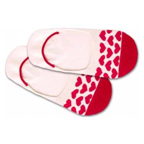 DillySocks Skarpetki stopki 'Hidden Heartbeat' czerwony / biały