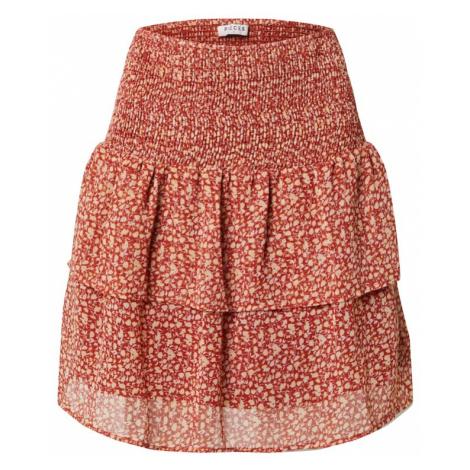 PIECES Spódnica 'PCLEON' pomarańczowo-czerwony