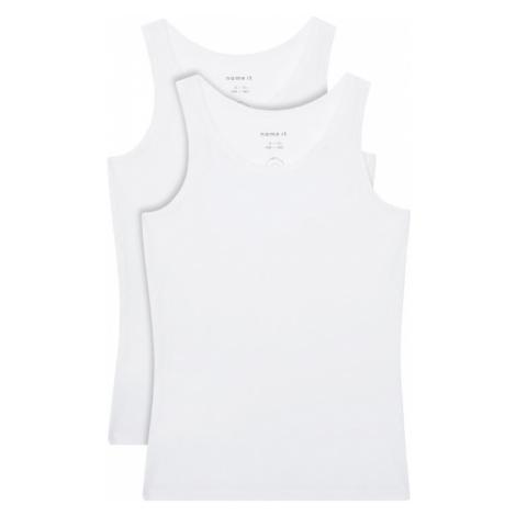 NAME IT Komplet 2 topów 13163571 Biały Slim Fit
