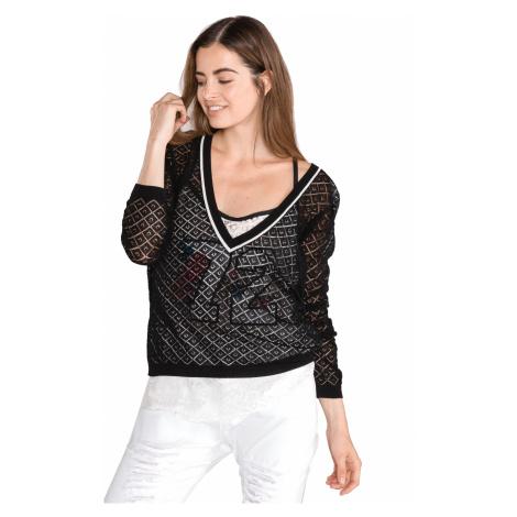 TWINSET Sweter Czarny Biały