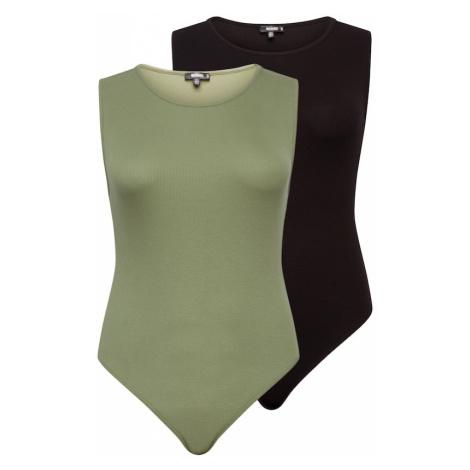Missguided Plus Koszula body oliwkowy / czarny