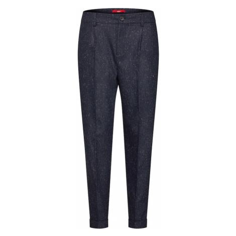 S.Oliver RED LABEL Spodnie 'Tweed-Chino' granatowy