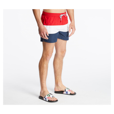 FILA Saloso Swim Shorts Black Iris/ Bright White/ True Red