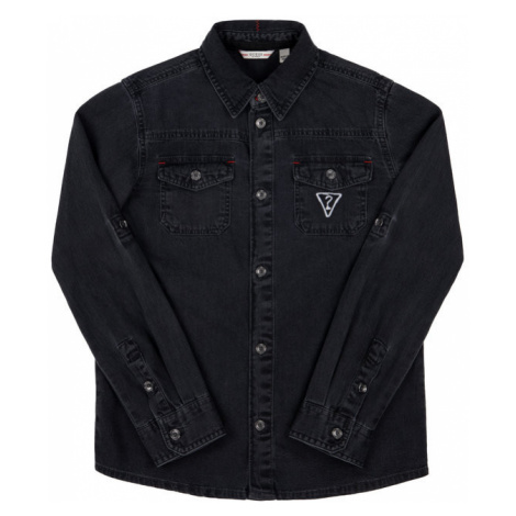 Guess Koszula L93H05 D37F0 Czarny Regular Fit