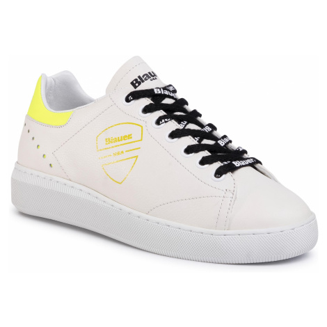Sneakersy BLAUER - S0KENDALL01/LAN White/Lime