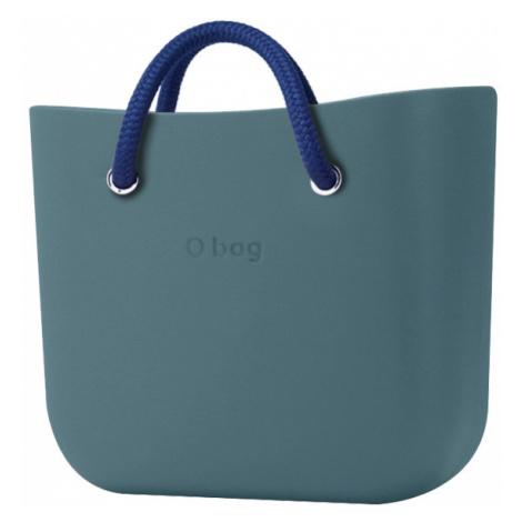 O bag MINI torebka Atlantic z niebieskimi krótkimi uchwytami linowymi Cobalto