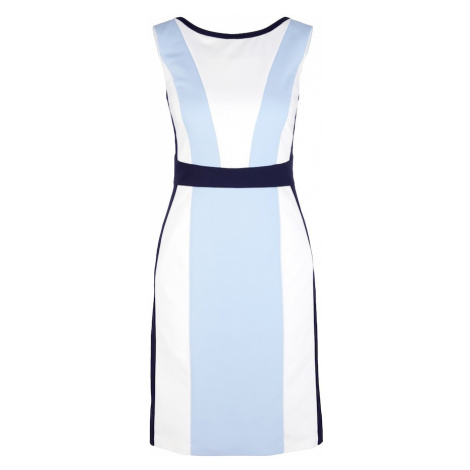 S.Oliver BLACK LABEL Sukienka etui biały / jasnoniebieski
