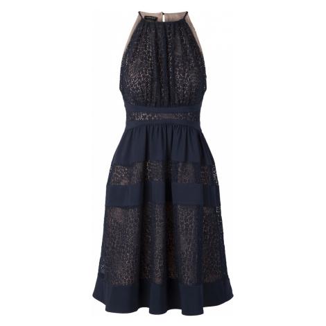APART Sukienka koktajlowa niebieska noc / przezroczysty