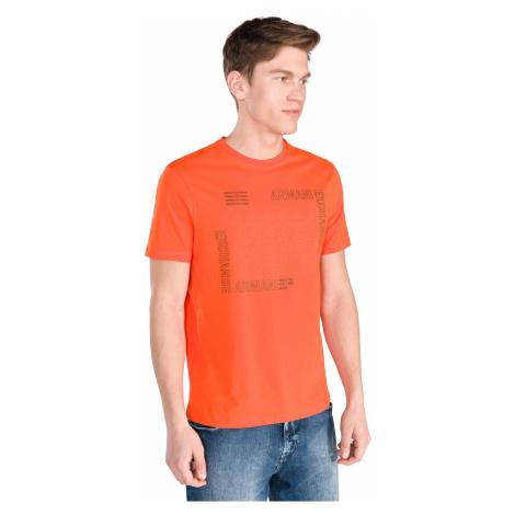 Armani Exchange Koszulka Pomarańczowy