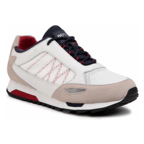 Boss Sneakersy Parkour 50445695 10214599 01 Biały Hugo Boss