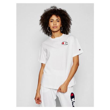 Champion T-Shirt C Patch 112651 Biały Oversize