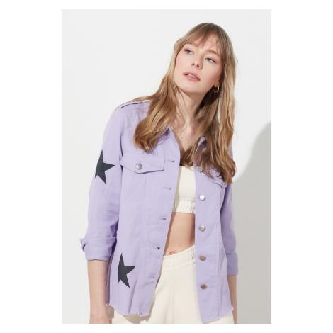 Trendyol Lila Star Printed Jacket