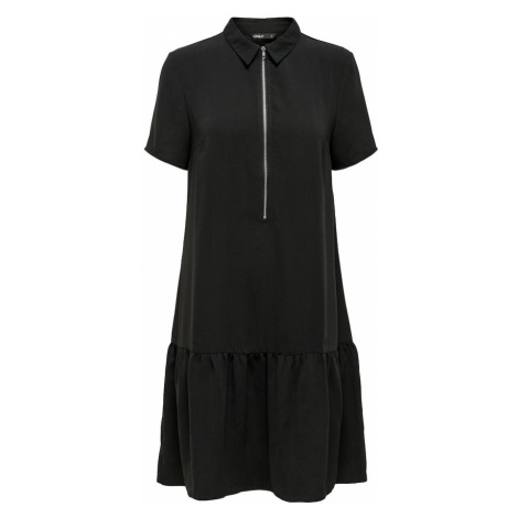ONLY Sukienka 'ONLRANONA S/S ZIP DRESS WVN' czarny