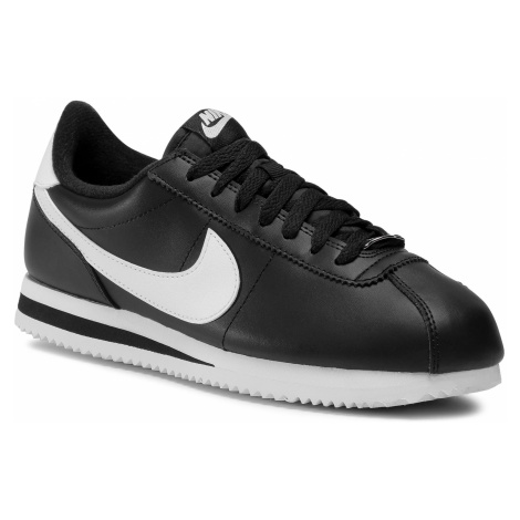 Buty NIKE - Cortez Basic Leather 819719 012 Black/White/Metallic Silver