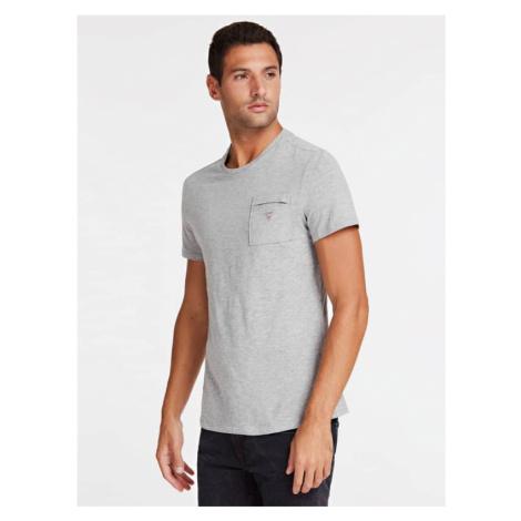 T-Shirt Z Trójkątnym Logo I Kieszenią Z Przodu Guess