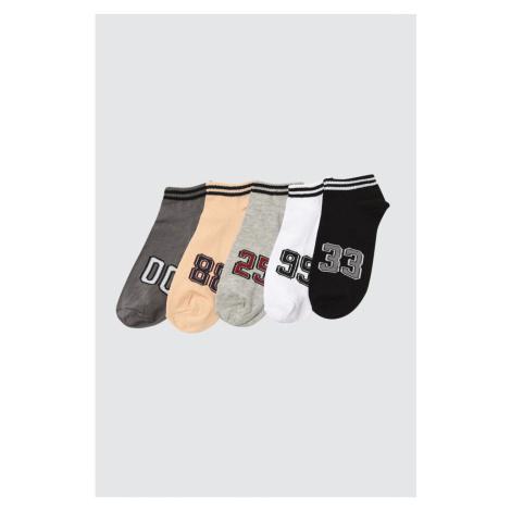 Trendyol MulticolorEd Męskie 5 Pack Suba Sneaker Skarpetki