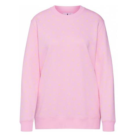 Calvin Klein Jeans Bluzka sportowa 'MONOGRAM AOP PRINT RELAXED CN' żółty / różowy pudrowy