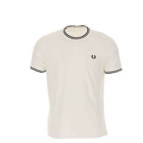 Fred Perry Koszulka dla Mężczyzn Na Wyprzedaży, biały, Bawełna, 2019