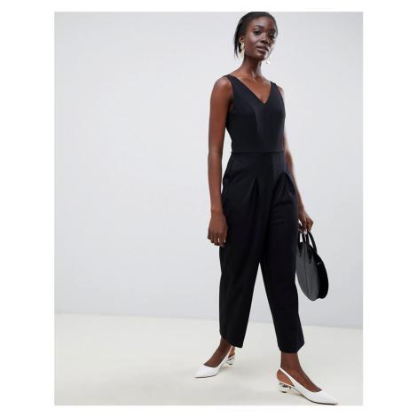 Selected femme v neck wide leg jumpsuit