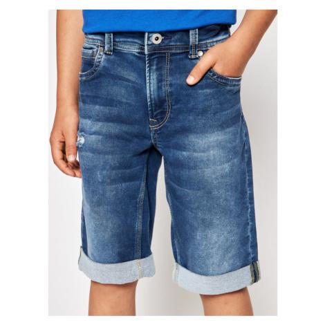 Pepe Jeans Szorty jeansowe Tracker PB800337 Niebieski Slim Fit